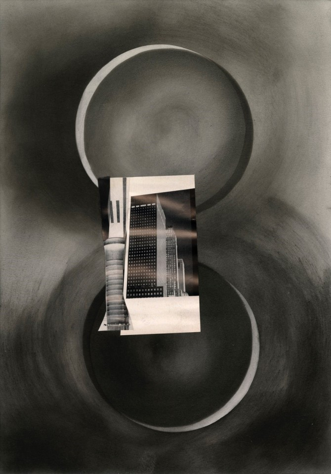 Britta Lumer & Eduardo Chillida. The evening moves on slowly, and I, gazing, want to see.