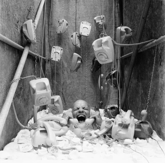 Hamm_Ben Wagin_Aus dem Photozyklus Die verlaengerte Kindheit_Der Schrei_1985